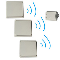 3 Button 1 Receiver Remote Control Wireless Wall Switch