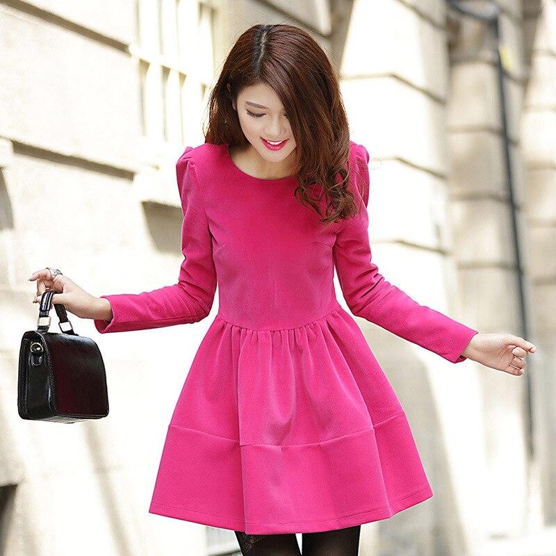 Платье короткое зима