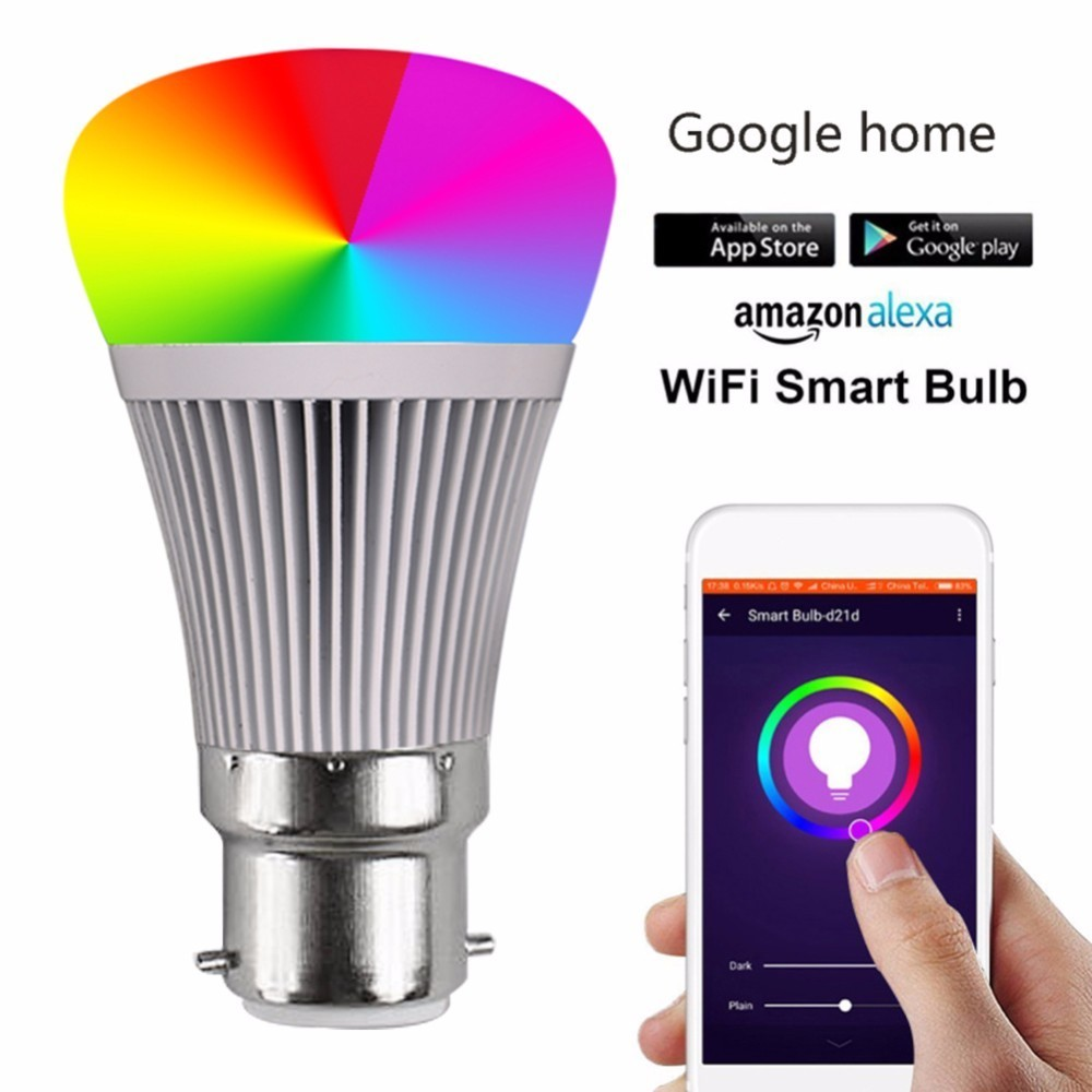Light Automation Us 12 12 20 Off Led Bulb Automation Smart Light Bulbs Remote Control Wifi Switch Led Color Changing Light Bulb Works For Google Home Alex Echo In