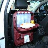 pu leather Car Seat Back Hanging Organizer Bag Universal Auto Multi-pocket PU Leather Pad Cups Storage Holder Bag Foldable Shelf (2)