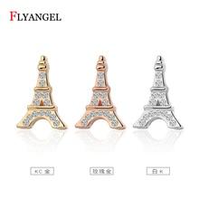 ceb501044dbd Moda plata oro rosa de cristal Torre Eiffel pendiente lindo pendientes para  las mujeres Bijoux joyería accesorios de boda