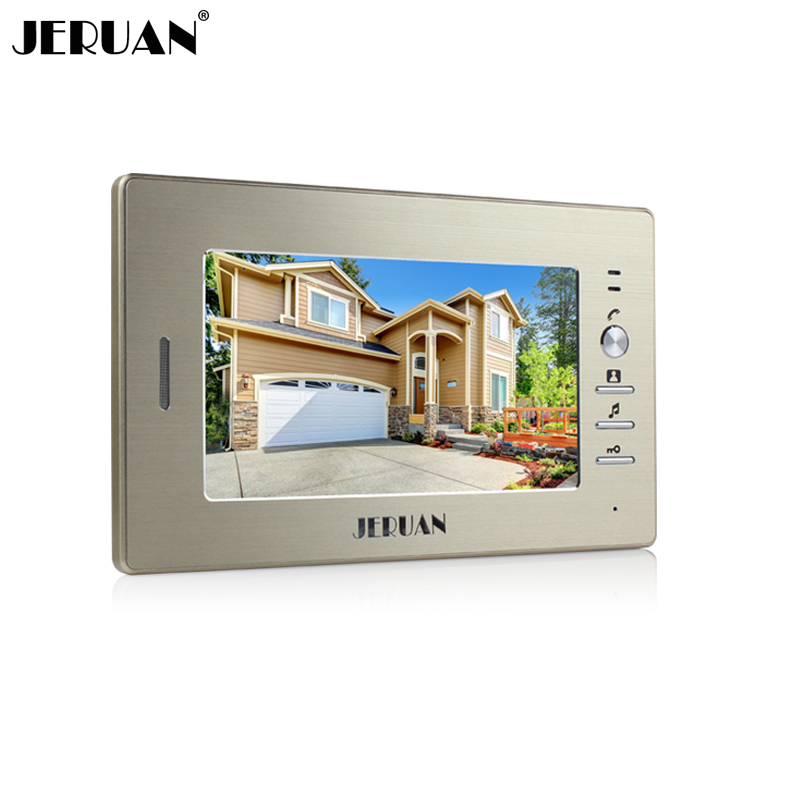 bilder für JERUAN 7 zoll farbe video-türsprechanlage sprechanlage nur monitor 720G innen + netzteil