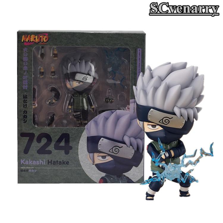 Nendoroid 724 Anime Naruto Shippuden Kakashi Hatake Cute Mini PVC Figure In Box