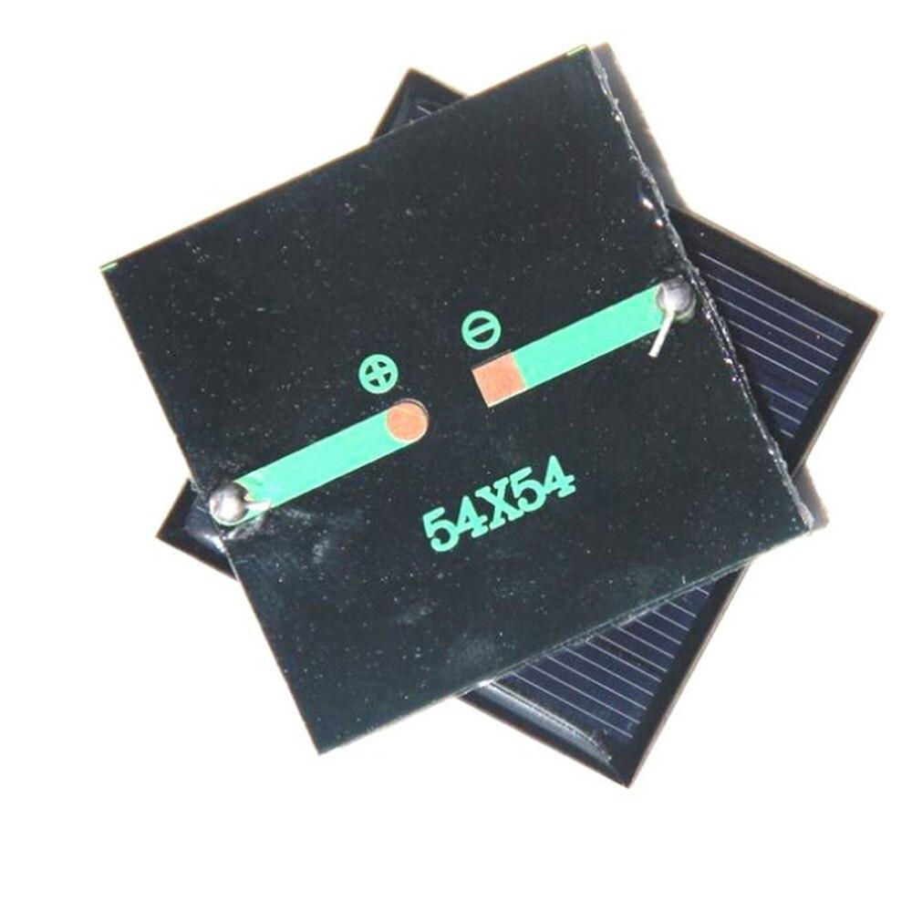 BCMaster 0.42W 3V Polycrystalline Solar Panel Portable DIY Sunpower Solar Power Cell Charger Outdoor Portable