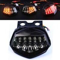 Mayitr Motorcycle Taillight Smoke Integrated LED Tail Brake Turn Signal Light Red Amber Lamp For Kawasaki