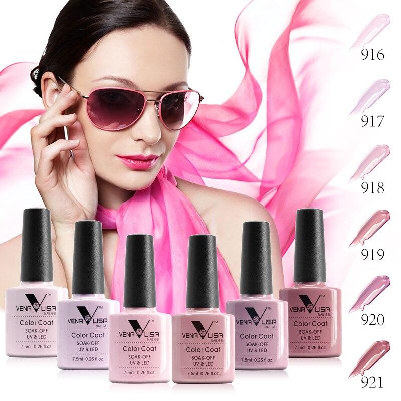 61508 Venalisa 5 Different Color Series Nail Gel Polish Soak Off 7 5ml Color Gel