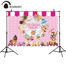 Allenjoy summer photography backdrop pink ice cream decoration birthday party photo studio background for child photophone allenjoy photography backdrop frozens wonderland forest snow queen birthday fairy tale party deco photo background photophone