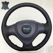 Soft Breathable Nappa Leather Car Steering Wheel Cover for Suzuki Jimny 2015 car styling