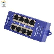 جيجابت محول تغذية الطاقة عبر شبكة إيثرنت 4 ميناء 1000Mbps بو لوحة التوصيلات 802.3af لمراقبة كاميرا IP نقطة وصول بخاصية واي فاي (AP) ، عملية ModeB
