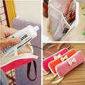 Wholesale 2 or 3 pcs Elegant waterproof multi function bag Cosmetic Bag Travel Organizer Pencil case with bow