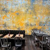 Tuya Art Vintage Industrial Yellow & Blue Rust Art Mural Wallpapar TV Background Decor Living Room kitchen Wall Decor