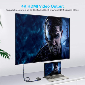 Image 4 - Thunderbolt 3 USB3.1 type C to HDMI/VGA/USB/PD cable for laptop with HD display