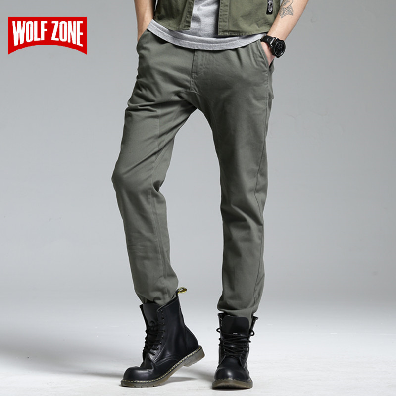 Autumn and Winter Pants Men Top Fashion Pantalon Homme Cargo Mid Straight Full Length Flat Trousers Casual Brand Clothing