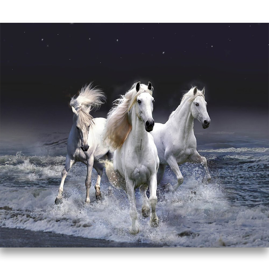 5d DIY Full Diamond Painting Round Drill Horse Picture Mosaic Diamant Crystal Embroidery Kit Home Decoration Wall Art Craft Gift