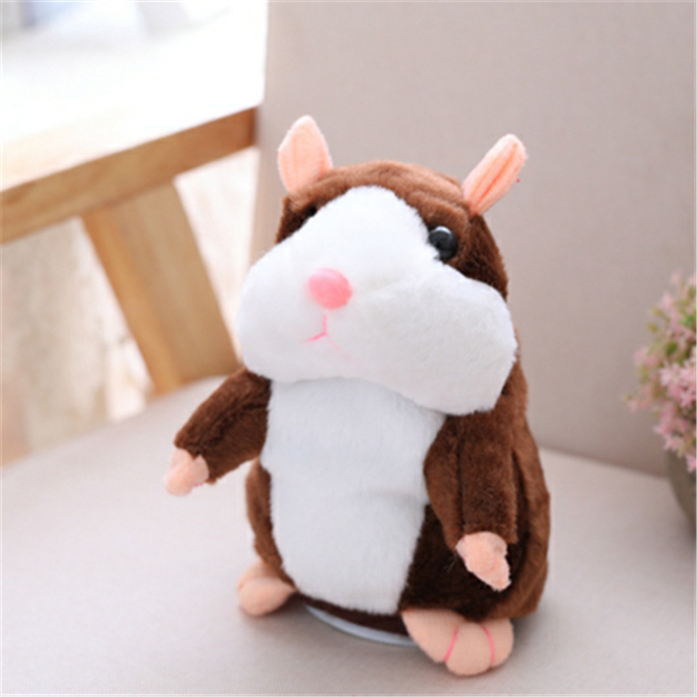 2018 Hot Talking Hamster Mouse Pet Plush Toy Cute Soft Toy Learn To Speak Talking Sound Electric Hamster Toy for Children Gift 2018 talking hamster mouse pet plush toy learn to speak electric record hamster educational children stuffed toys gift 15cm