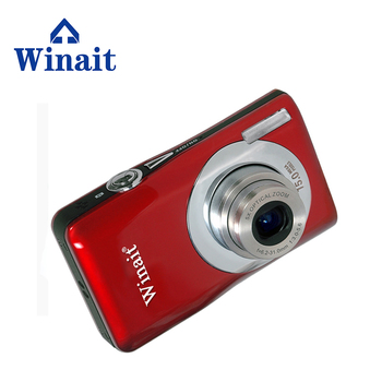 Winait compact digital camera DC-V100 Rechargeable lithium battery camera with 5x optical zoom, 4x digital zoom