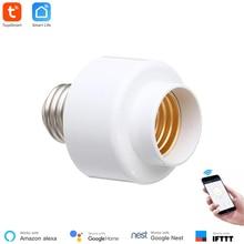 Suporte inteligente para lâmpada tuya, wifi remoto, led, temporizador real para casa inteligente, compatível com alexa, echo e google casa casa