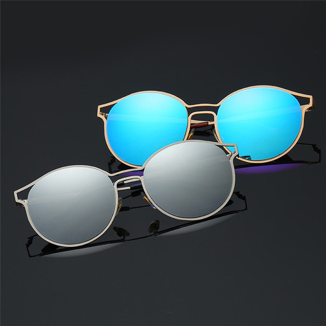 9133ff376a Best Offers Man Women Round Sunglasses Metal Frame Sunglasses Brand Classic  Tone Mirror Sunglasses Cycling Eyewear