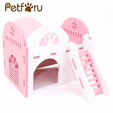 Фотография Petforu Durable Hamster Cage Mouse House Eco-Friendly Syrian Hamster  Small Pet Rat Mouse Hut