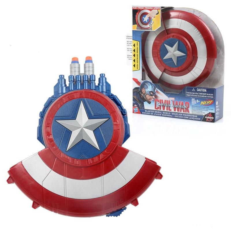 Captain America Shield Nerf Gun The Avengers Marvel Action Figure Shoot  Soft Bullet Gun Plastic Toy Captain America Shield Gun-in Toy Guns from  Toys ...