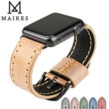 Ремешок кожаный для apple watch band 44 мм 40 42 38 series se