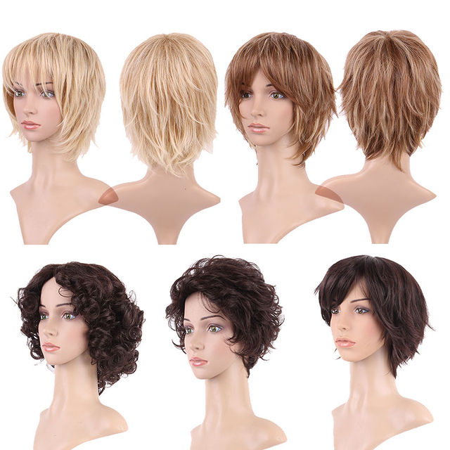 S-noilite Synthetic Wigs For African American Black Women Long Brown Mixed Two Tone Wigs With Bangs