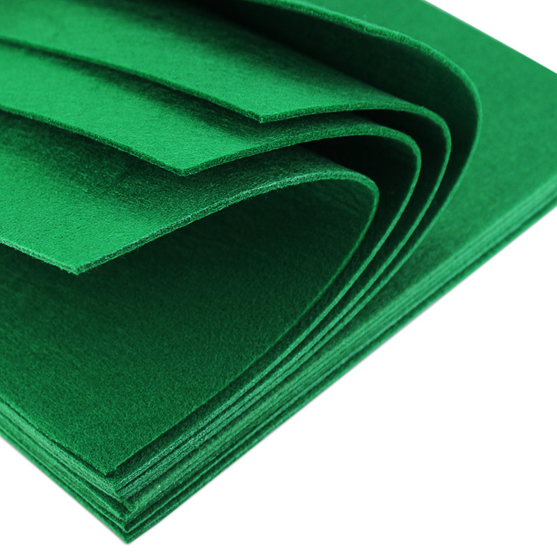 3mm Thick Felt Fabric Christmas Green 30X30CM Solid Color Non-woven DIY Craft Home Decoration Supplies 1 Sheet