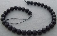 8SE10750 12mm Natural Black Tourmaline Round 15.8 Beads