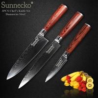 SUNNECKO 73 Layers Damascus Steel Knife Japanese VG10 Blade Kitchen Knives Pakka Wood Handle Sharp Chef Slicing Paring Cut Knife
