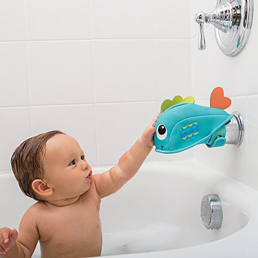 Cartoon diving material Water Faucet mouth Protection Cover Baby Safety Protector Bath Tap Product Edge  Corner Guards kids care