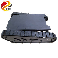 Metal large rc robot Tank Chassis with Rubber track Crawler tracked car chase Belt Tracked Vehicle project model