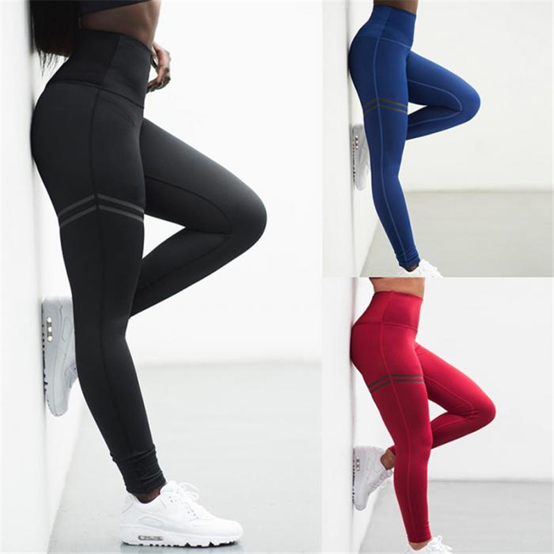 Leggings   Pant Trouser High Waist Elasticity For Women Lady Running IK88