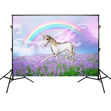 Prince Charming Backdrop Dreamy Wedding Photography Background Rainbow and Lavender Backdrops Props for