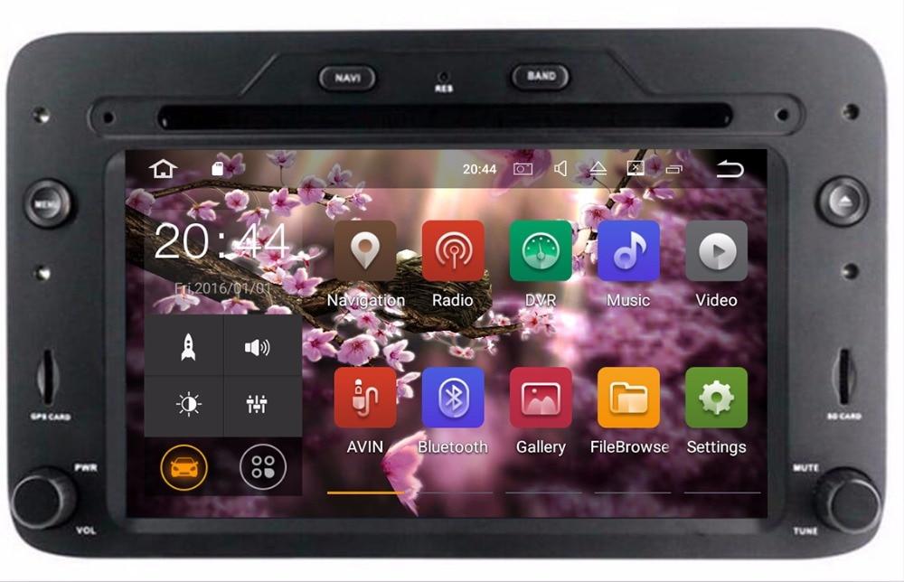 Android 7.1 lecteur DVD de voiture pour Alfa Romeo araignée Alfa Romeo 159 Brera 159 Sportwagon GPS RADIO RAM 2G ROM 32G NAVI stéréo wifi