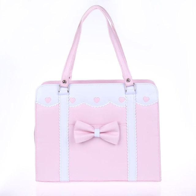 bfff5a10ad Princess sweet lolita bags Loris royal vintage lace bow heart bag handbag  lovely cosplay bag young girl cos student bag loris005