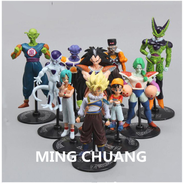 10 pçs/set DRAGÃO BALLZ Kakarotto Son Goku Frieza Dr. gero Celular PVC Action Figure Collectible Modelo Toy 5-10 CM OPP Q122