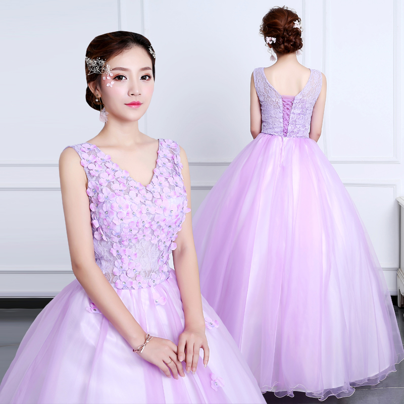 New Arrival V-neck Quinceanera Dresses Appliques Beading Ball Gowns Open Back Vestidos Para For 15 Teens Hochzeitskleid