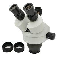 7X 45X Professional Trinocular Zoom Stereo Microscope Head WF10X SZM0.5X Working Distance 100 mm Microscopio Accessories