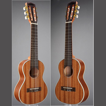 Acouway 28 inch Guitar ukulele Guitalele Guitarlele Travel guitar Guilele guitarlili  6 Strings 18 Frets Classical Knob Sapele