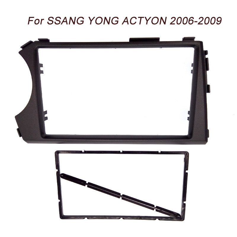 2DIN Radio Fascia for SSANG YONG Actyon LHD (Left Hand Drive) Facia Dash CD Trim Installation mount Kit facia frame panel 2x 50 60 70 80 90 100mm cob angel eye led drl chip car motorcycle light super bright waterproof auto headlight car light source