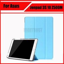 """3 en la cubierta de la pu folio case magnética soporte de protección de shell cubierta para asus zenpad 3 s 10 z500m 10""""tablet z500 + regalo"""