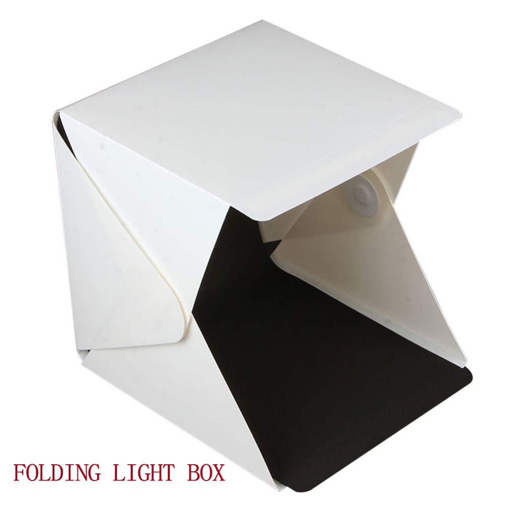 Free Shipping Photography Folding Mini LED Light Box for Photo Studio Accessories