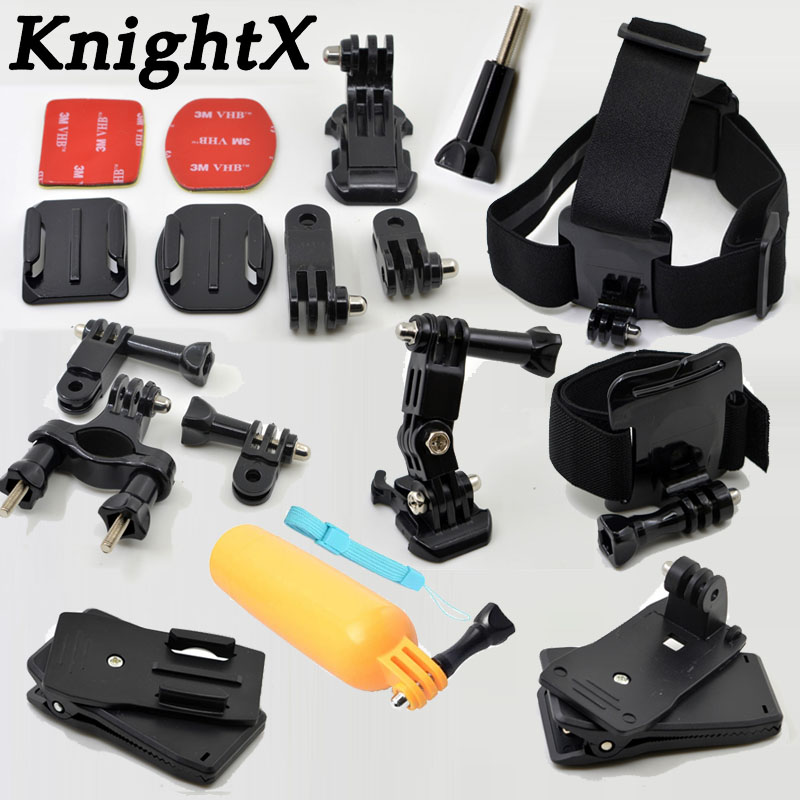 KnightX Accessories Quick Clip For Gopro Hero 6 5 Mount For Go Pro Hero 5 Float Grid For Xiaomi Yi 4K SJCAM For Action Camera