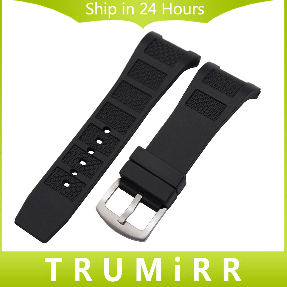 Silicone Rubber Watchband 30mm x 16mm Notch End Strap for INGENIEUR Watch Band Stainless Steel Buckle Belt Wrist Bracelet Black 20mm 23mm high quality rubber silicone watchband for armani silicone rubber wrapped stainless steel watch strap for ar5906 5890