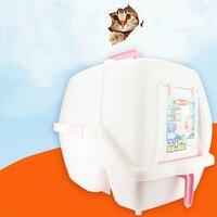 Портативный кошачий Туалет закрытый ящик для мусора Животные поставляет инструменты Песок кошачьих туалетов домашних животных лоток судн