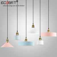 NEW Style Creative Wood iron Pendant lights Dining Room iron metal Hanging Lamps Pendant Lights bar Nordic Designer light
