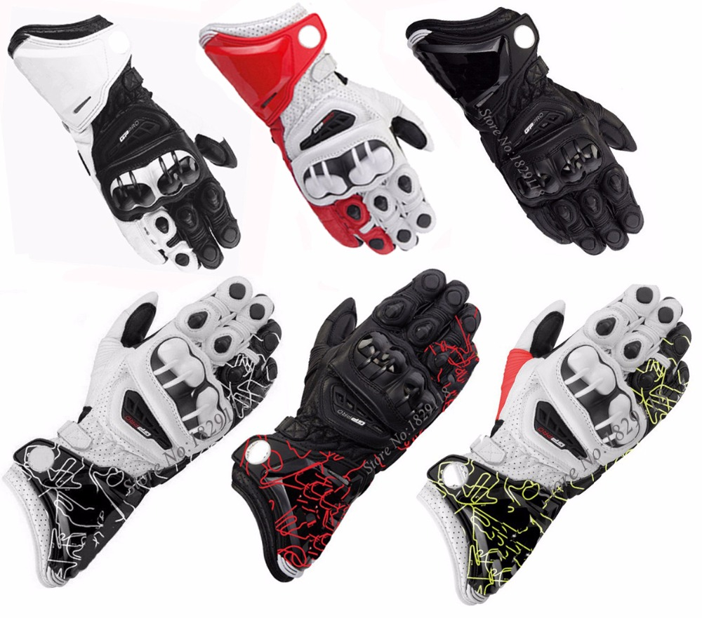 Buy leather motorcycle gloves - Hot Sale Brand New Alpine Genuine Leather Motorcycle Gloves Gp Pro Full Finger Driving Motocross Luva