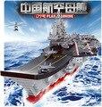 Juegos de bloques de construcción Modelo de portaaviones Cruiser submarinos Militares Ladrillos chicos juguetes de regalo juguetes educativos