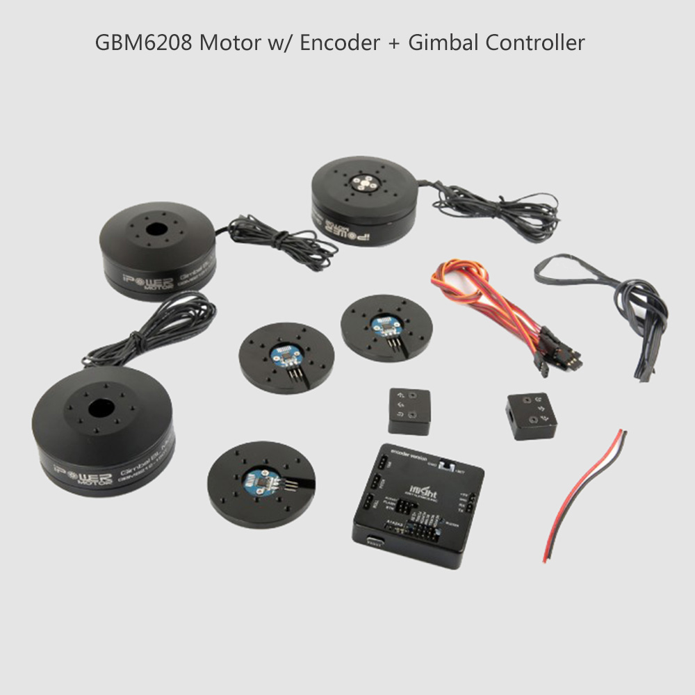 GBM6208H-150T Hollow Shaft Brushless Gimbal Motor w/ SimpleBGC 32bit Controller w/ Encoder for Canon 5D Handheld Stabilizer diy metal clevis w hollow shaft