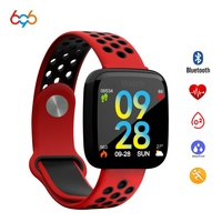 696 colors F15 smart wristband blood pressure monitor smartband big screen era quickly rotate photos sharing smart bracelet